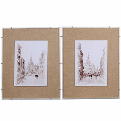European Watercolor Street Prints-Set of 2 By Casagear Home