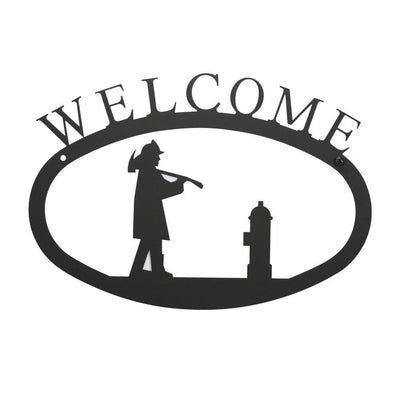 Fireman - Welcome Sign Large -Village Wrought Iron VWI-WEL-15-L