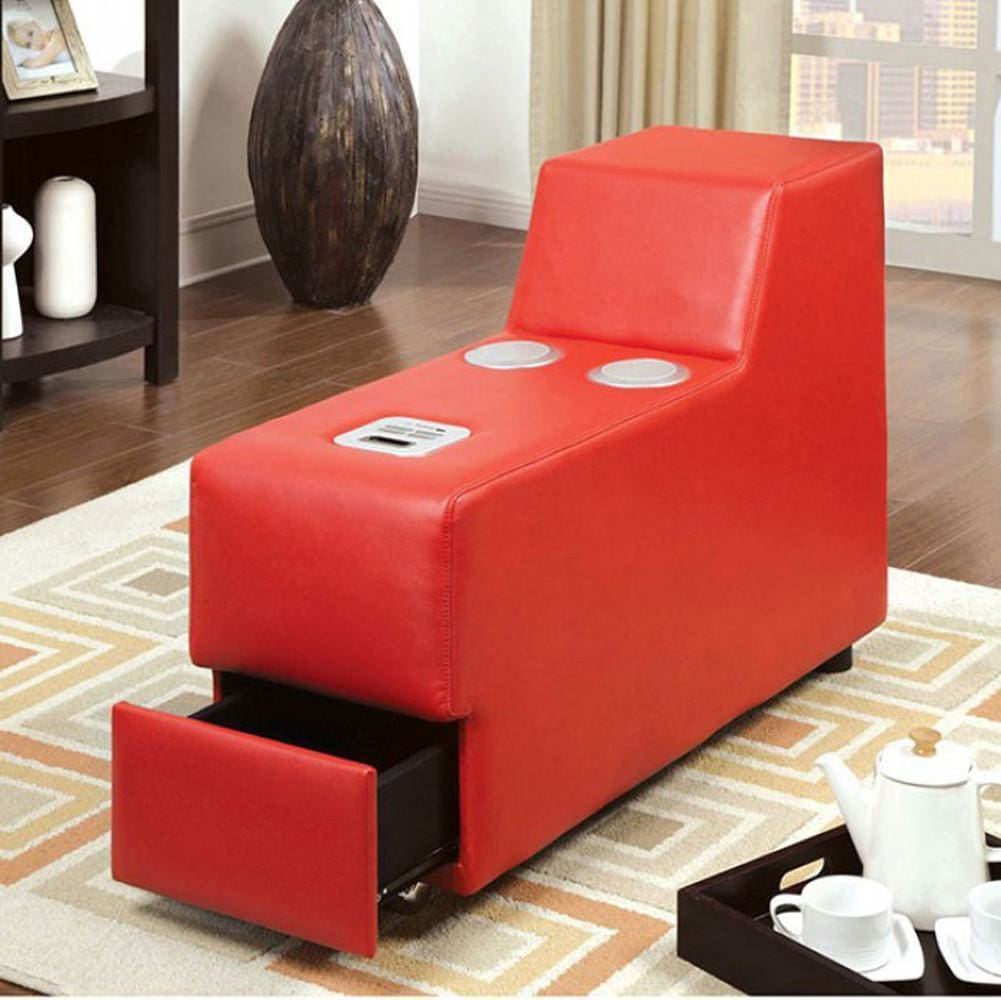 Floria Contemporary Speaker Console, Red By Casagear Home