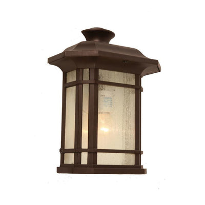 "FRANKS Transitional 1 Light Rubbed Bronze Outdoor Wall Sconce 12"" Height"