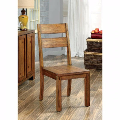 Frontier Rustic Side Chair, Natural Teak Finish, Set of 2 By Casagear Home