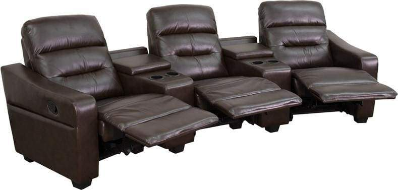 Gg Seat Reclining Brown Theater Seating Unit