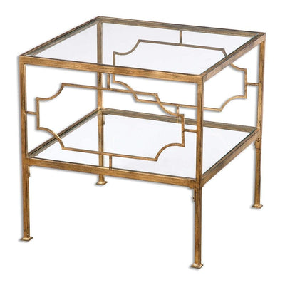 Genell Gold Cube Table By Uttermost