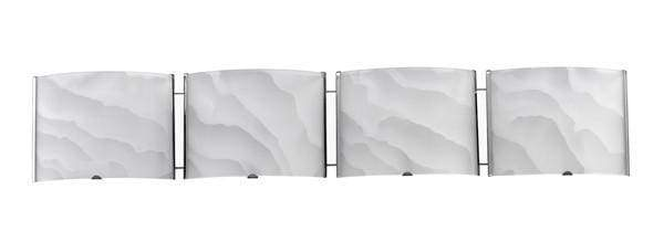Grand Transitional 4-Light Bath Vanity Fixture by Chloe Lighting