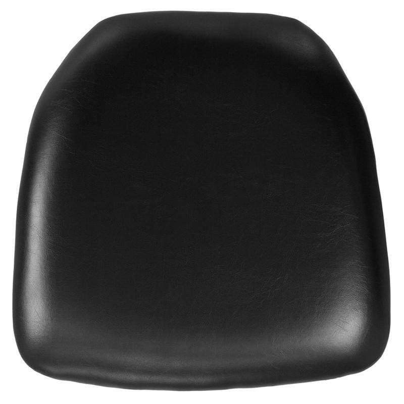 Hard Black Vinyl Chiavari Chair Cushion [BH-BK-HARD-VYL-GG]