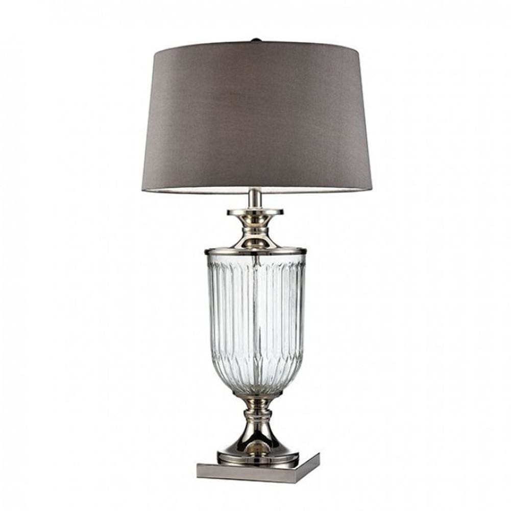 IRA Contemporary Glass Table Lamp, Translucent By Casagear Home