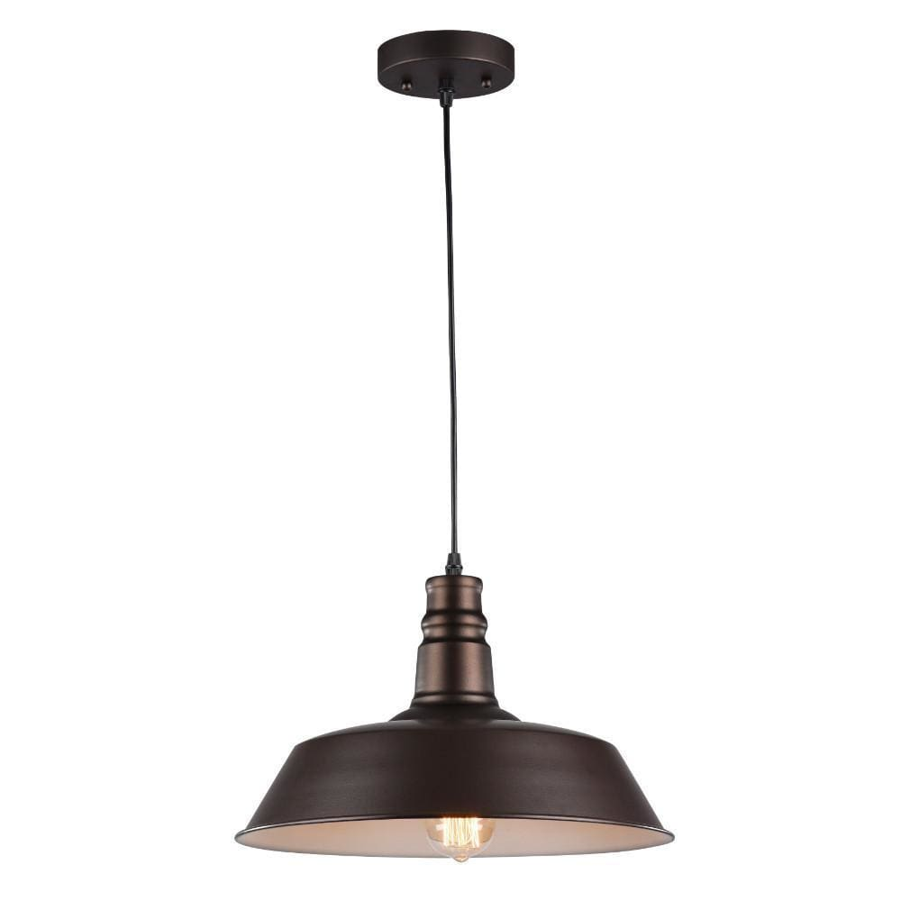 Industrial Style Metal Body Ceiling Pendant Lamp with One Light, Bronze