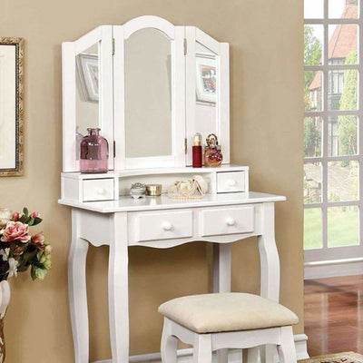 JANELLE Transitional Vanity, White By Casagear Home