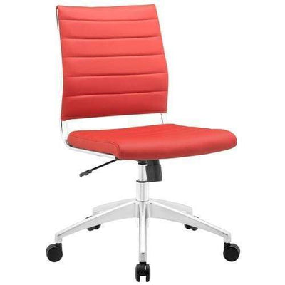 Jive Armless Mid Back Office Chair Red