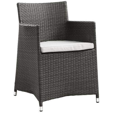 Fortuna Outdoor Patio Ottoman Brown Mocha