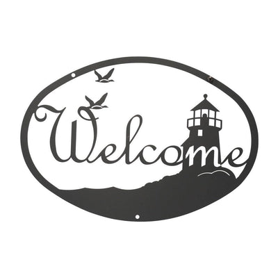 Lighthouse & Birds - Welcome Sign Medium