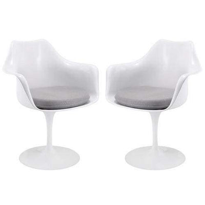 Lippa Dining Armchair Set of 2 Gray