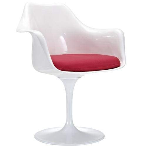 Lippa Dining Fabric Armchair Red