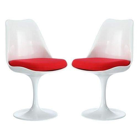 Lippa Dining Side Chair Set of 2 Red