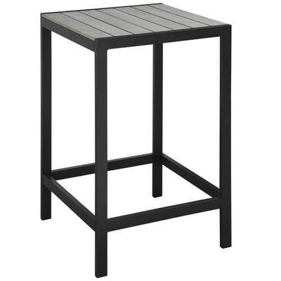 Maine Outdoor Patio Bar Table Brown Gray