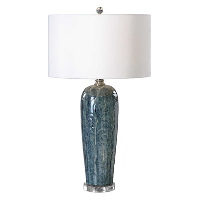 Maira Blue Ceramic Table Lamp By Uttermost