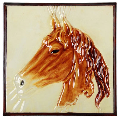 Metal Horse Wall Art ,Brown - 37830 By Casagear Home
