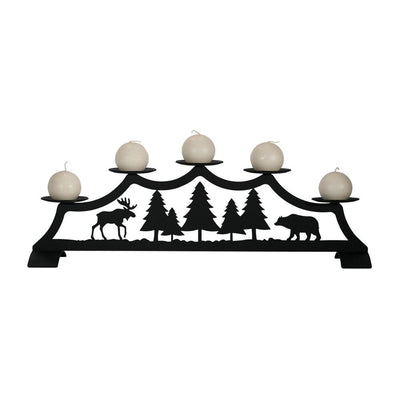Moose - Fireplace Pillar Candle Holder