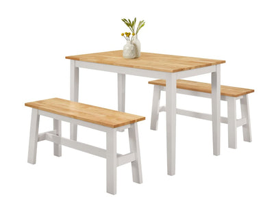 NEW YORK Table with 2 Benches -4D Concepts 4DC-534110