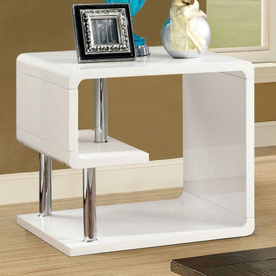 Ninove I Contemporary Style End Table, White By Casagear Home