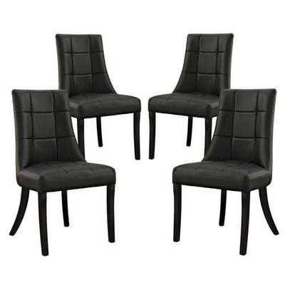 Noblesse Vinyl Dining Chair Set of 4 Black