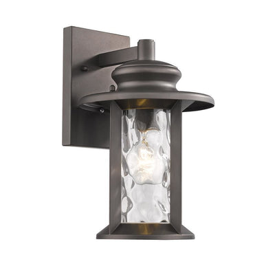 "Owen Transitional 1 Light Rubbed Bronze Outdoor Wall Sconce 12"" Tall - CH2S074RB12-OD1"