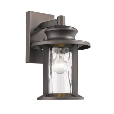 "Owen Transitional 1 Light Rubbed Bronze Outdoor Wall Sconce 14"" Tall - CH2S074RB14-OD1"