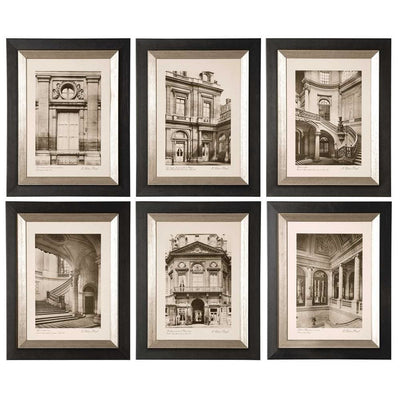 Paris Scene Framed Art Set 6 - Uttermost