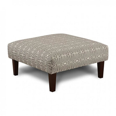 Parker Contemporary Ottoman, Triangle Pattern By Casagear Home