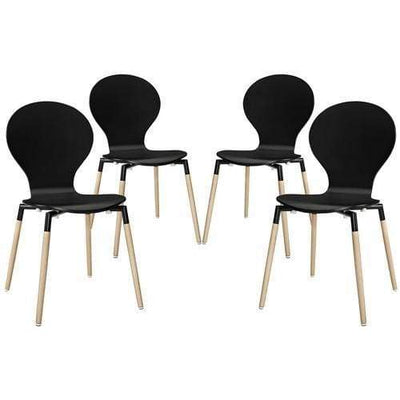 Path Dining Chair Set of 4 Black