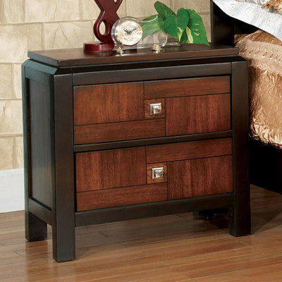 Patra Transitional Nightstand, Acacia & Walnut By Casagear Home
