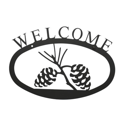 Pinecone Welcome Sign LG