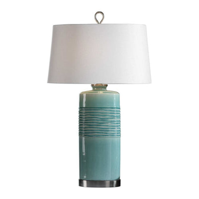Rila Distressed Teal Table Lamp By Uttermost