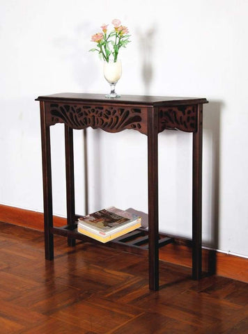 Antique Set of Four Trendy Wooden Rect Foldable TV Tables by Winsome Woods