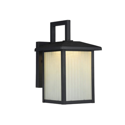 "Ryston Transitional Black 1 Light Outdoor Wall Sconce 11"" Tall"