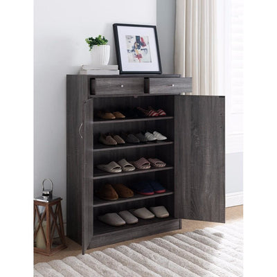 Shoe Cabinet With Spacious Storages Gray IDF-161569
