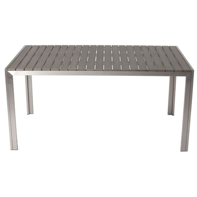 Sleek And Modish Trendy Anodized Aluminum Dining table, Gray