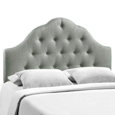 Sovereign King Fabric Headboard Gray