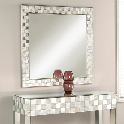 Square Wall Accent Mirror, Gold - ACME