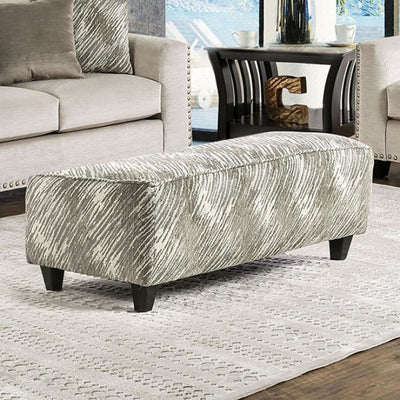 Stefano Contemporary Ottoman, Light Mocha Finish By Casagear Home