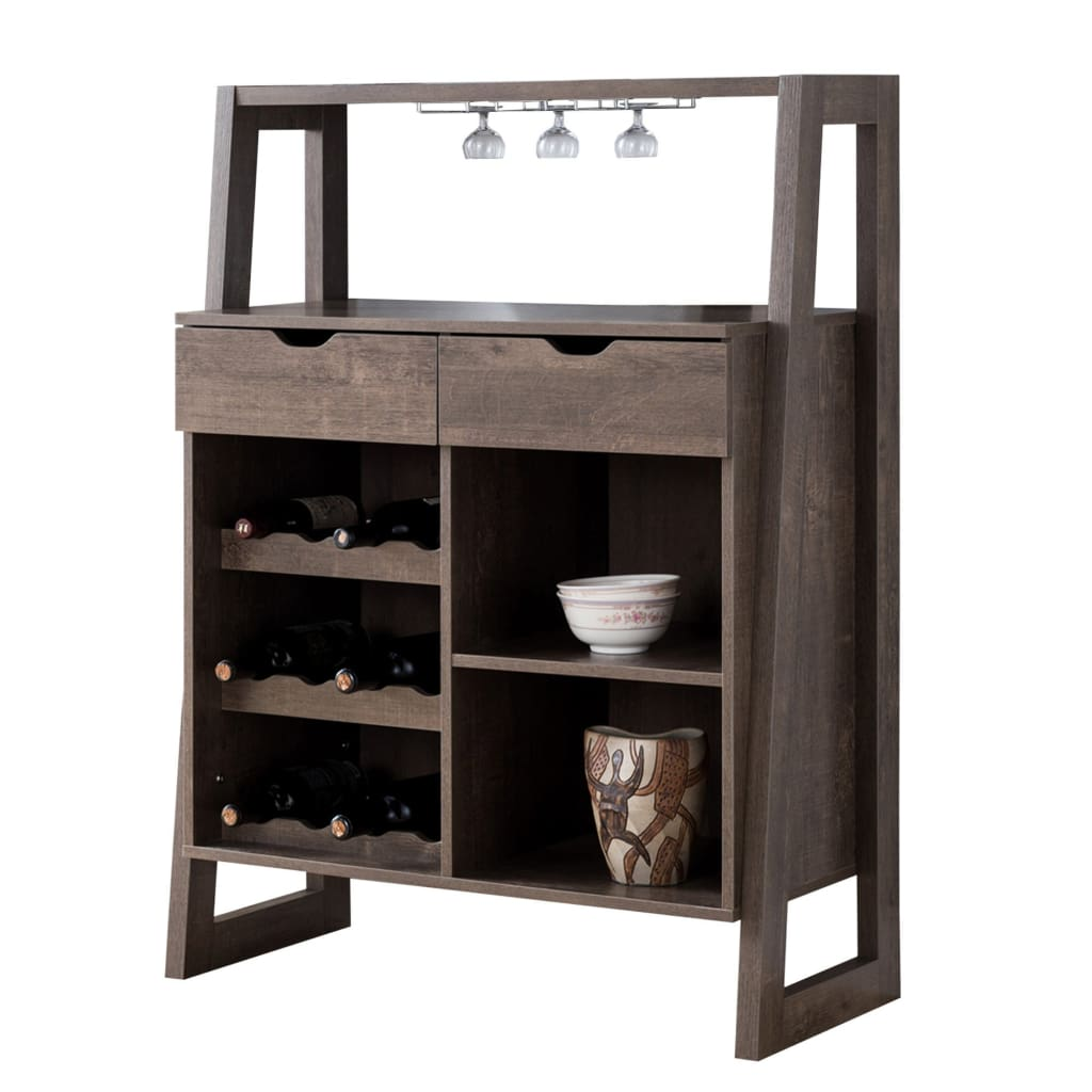 Buy Online Stylish Wooden Wine Cabinet With Sled Legs And Spacious