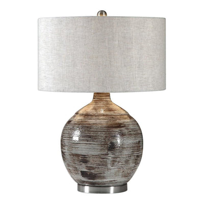 Tamula Distressed Ivory Table Lamp By Uttermost