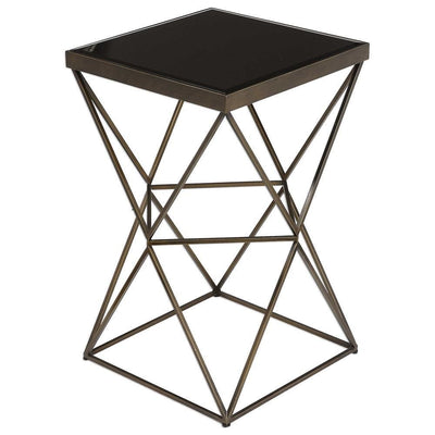 Uberto Caged Frame Accent Table By Uttermost