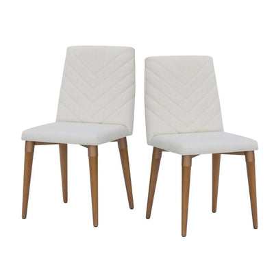 Utopia 2-Piece Chevron Dining Chair, Beige