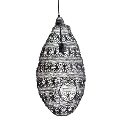 Wire Weave Pendant Light In Iron, Black - HP40639