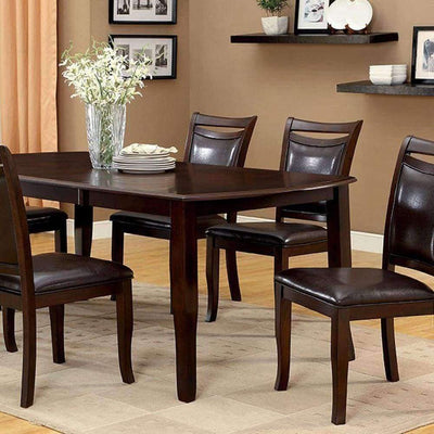 Woodside Contemporary Dining Table, Expresso Finish By Casagear Home