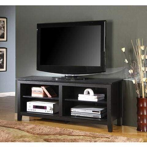 "60"" Urban Blend TV Console Table / Buffett - Driftwood/Black"
