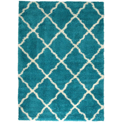 Zafirah Contemporary Area Rug, Turquoise By Casagear Home