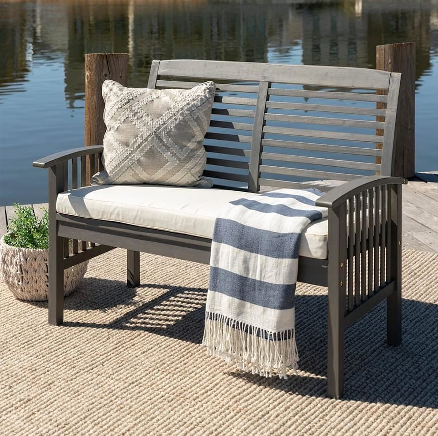Outdoor Love Seat with Cushion