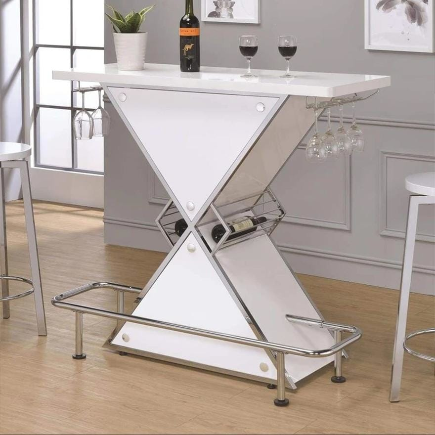 Contemporary Bar Unit with metal frame